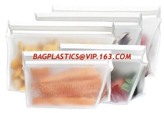 China Reusable Silicone Food Storage Bag Washable Silicone Fresh Bag for Fruits Vegetables Meat Preservation bagplastics bagea supplier