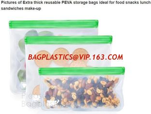 China Reusable BPA Free Food Grade Preservation Storage Silicone Food Fresh Bag,Silicone Plastic Packaging Food Zip Silicon Fr supplier