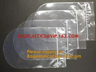 China Round bottom polypropylene zip lock bag, CD bag, round reclosable bag, round reusable zip lock bag, round grip seal pack supplier