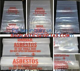 China Plastic Manufacturer Extra Large Heavy Duty Clear Asbestos Garbage Removal Construction Waste Bags, bagplastics, bagease supplier