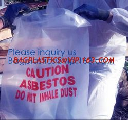 China Hazardous Waste Yellow Plastic Bag Asbestos Garbage Bag,large size thicker LDPE asbestos remove bags,asbestos garbage ba supplier