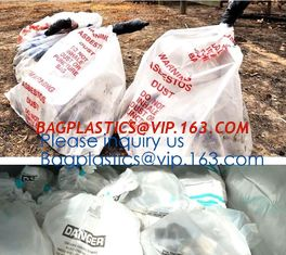 China Disposal Asbestos Waste Bags ,Plastic Bags for Asbestos fibers,asbestos waste packaging plastic garbage bag BAGEASE PAC supplier