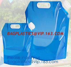 China 1 Gallon 4L foldable plastic bottle bag Foldable water bag,logo printed foldable water bottle bag,Reusable Outdoor Water supplier