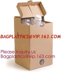 China Wine Juice Water Oil Bag In Box With Tap Valve,3 L and 5 L Wine bag in box holder,red wine bag in box,Water bag with spo supplier