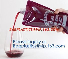 China Red wine,Milk beverage spout bag self-standing sealing bag,bag with spout cosmetic spout bag bag in box spout,bagease pa supplier