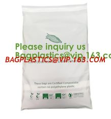China EN13432 100% Bio Degradable Mailing Bags Custom PLA PBAT Compostable Courier Bags,Eco Reusable Recycle Compostable Mail supplier