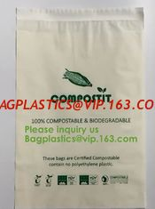 China Cheap factory direct biodegradable courier bags with EN13432 BPI OK compost home ASTM D6400 certificates BAGPLASTICS PAC supplier