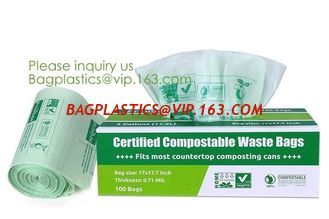 China Hospital Medical Custom Printed Plastic Scented Compostable Bio Degradable Garbage Bags With Logo,bagease bagplastics supplier