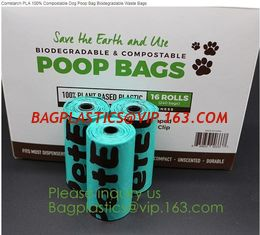China factory supplier Compostable Recyclable Clear Poly Bags Custom Logo Seal Garbage Bag,dog poop bag, doggy bag, pet suppli supplier