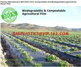 China Factory Manufacturer EN13432 100% Compostable and biodegradable Agricultural Mulch film, starch plant based wrap film pa supplier