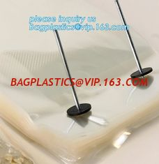China wicket bread bag,reusable customized transparent wicket ice cube bags,clear water proof wicket PE bag,bag with metal str supplier