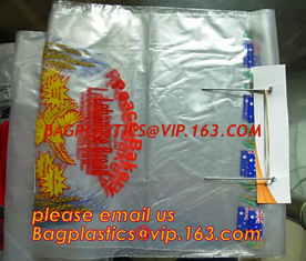 China Custom Printed Clear Plastic Wicket Bread Packaging Bags/Food Plastic Bread wicket Bags/PE bakery bread wicket plastic b supplier