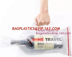 China Bottle Protector Bubble Travel Bag,Travel Trip Bag With Bubble Inside And Double Ziplocks,Sleeve Travel Bag - Inner Skin supplier