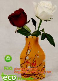 China home decoration pvc flexible flower vase,Professional clear pvc vase vinyl vase,reusable vinyl vase,vinyl folding vase,f supplier