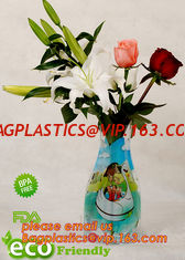China Transparent Vinyl Plastic Standup Flower Vase,PVC plastic flower vase with wonderful design,waterproof Foldable plastic supplier