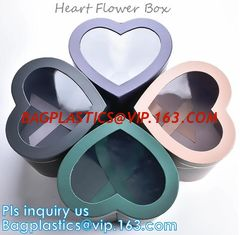 China Different Design Cardboard Luxury Packaging Box For Flowers with custom Logo,GIFT SET BOX,KEY CHAIN BOX,HEART FLOWER BOX supplier
