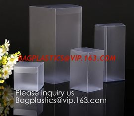 China pvc box Clear PVC box with foil stamping  Alternatives to acrylic box pvc box Clear PVC box & offset printing  Alternati supplier