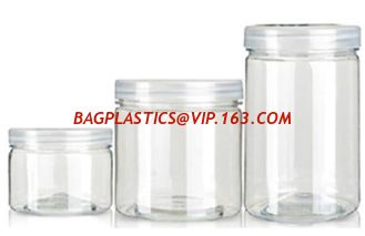 China 150ml 180ml pet plastic bottle container for candy cookies food packaging,250ml 500ml PET plastic container bottle jar f supplier