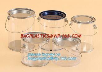 China aluminum tin aluminum container jar with clear window top aluminum cans with screw lid for cosmetic/food bagplastics pac supplier