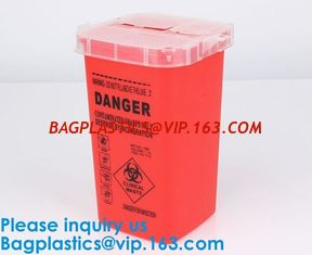 China Biohazard Plastic Sharps Container,Hospital Biohazard Medical Needle Disposable Plastic Safety Sharps Container supplier
