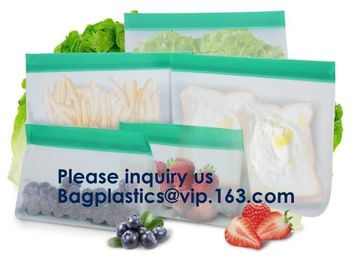 China Reusable PEVA Standing Bag for Food Storage and Milk,FDA Reusable Standing Storage Bag,Easy to Seal and Leakproof supplier
