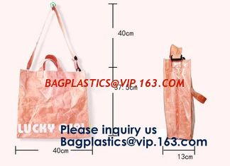 China Customized Elegant Eco Reusable Promotion Gift Waterproof Tote Shopping Paper Tyvek Bag Dupont Recyclable Tyvek Shopping supplier