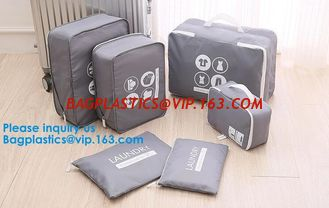 China Travel 6 Sets Travel Organizers Luggage Compression Pouches Packing Cubes, Luggage Organizer Accessories Luggage Packing supplier