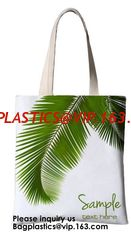 China Printing Palm Leaf Canvas Bag Cotton Canvas Handle Tote Bag Cotton Bag Customized Cheap Eco Silk Screen Printing Logo Re supplier