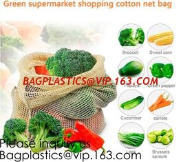 China Green Supermarket Shopping Cotton Net bags, Mix Color Narrow Long Handle Cotton Net Shopping Bag, Bagease, Bagplastics supplier