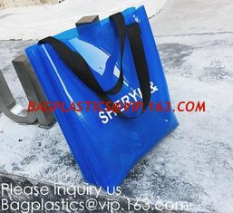 China Mirror Shiny PVC Shopping Bag,Wholesale Custom Printed Waterproof Transparent Pvc Tote Bag Clear Pvc Jelly Shopping Bag supplier