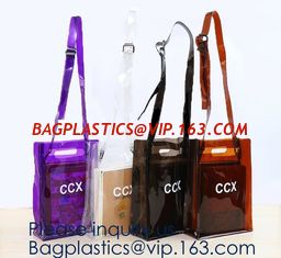 China Custom Logo Home Textile Clear Vinyl PVC Plastic Quilt Blanket Zipper Bag With Handles,promotional pvc shopping bag supplier