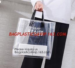 China Manufacturer Custom Logo Transparent Clear PVC Plastic Portable Packaging Promotional Gifts Shopping Tote Bag, bagease supplier