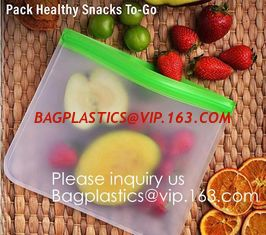 China Eco friendly Zipper Leakproof Freezer Bag Washable Reusable PEVA Sandwich Snacks Storage Bags For Fruits Vegetables Lunc supplier