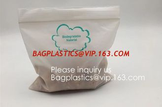 China Eco PLA 100% Biodegradable Corn Starch Compostable Plastic Zipper Bag,Resealable PLA Biodegradable Poly D22/EPI PAC Bag supplier