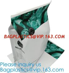China Flat Bottom Zipper Stand Up Aluminum Foil Custom Zip Lock With Logo Snack Packaging Bags,Flat Bottom With Ziplock Zipper supplier