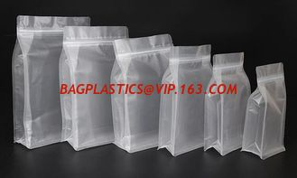 China Polypropylene bags, Soup Pouches, Roll Stock, Aluminum Foil Bags, Stand up Pouches Flat bottom 8 side gusset food grade supplier