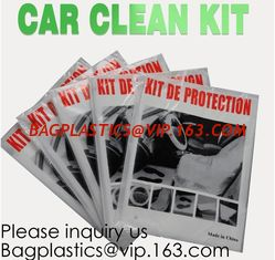 China Disposable Plastic Car Cover with Elastic Band Medium Size, Kit De Protection, Car Clean Kit, car protection disposable supplier