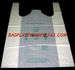 China Starch Biodegradable T Shirt Bags Made Of PLA PBAT, 100% Biodegradable & Compostable,T-Shirt Shopping Bags, DOLLAR STORE supplier