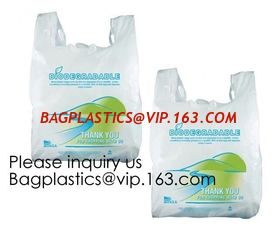 China Compostable Grocery T-Shirt Bags, Eco Friendly, Biodegradable, 2 Gal - 4 Gal Small Clear Trash Bags Office, Bulk supplier