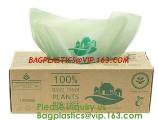 China 100% Certified Biodegradable Compost Bags, Food Waste Bags,Food grade compostable coffee bags,Biodegradable Stand Up Cof supplier