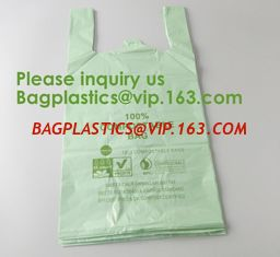 China Heavy Duty Compostable T-shirt Handle Tie Plastic Roll Garbage Bags Trash Bags, t shirt carry bags, bagease, bagplastics supplier