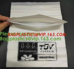 China PLA compostable Clear poly custom printed plastic ziplock bags,APPAREL Dress Ziplock Bag,garment packaging bag, bagease supplier