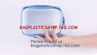 China PVC Transparent Vinyl Zipper Cosmetic, Toiletry Bag, Vacation, Bathroom, Storage, multipurpose bag,school, office, trave supplier