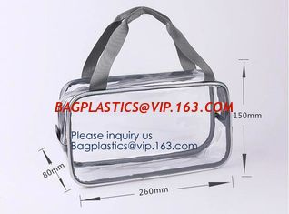 China Holiday Cosmetic Bag Flamingo Ice Cream Transparent Makeup Bags With Handle See Through Plastic Makeup Bags, Dress Bags supplier