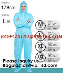 China Boot, Hood, Elastic Cuffs, Ankles, Waist. Heavy-Duty Protective Coveralls. Unisex Disposable Workwear for cleaning servi supplier