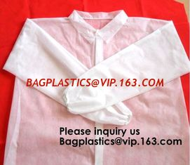 China SMS Disposable Hooded White Coveralls Suit Chemical Protective Elastic Wrist Zipper Front Closure, bagease, bagplastics supplier