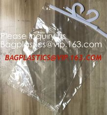 China Custom Logo Printing EVA Garment Underwear Clothes Packaging Transparent Button Pvc Soft Plastic Hanger Hook Bag, BAGEAS supplier