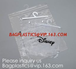 China Transparent PVC hanger hook plastic bags for clothes packing,Better Protect and store CD's, books, magazines, papers and supplier