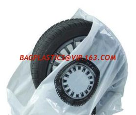 China Disposable tyre bags, steering wheel cover, car seat cover, disposable cover, pe car foot mat, gear Automotive Tire Bag supplier
