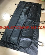 China Body bags, CE Death Body Bag For Virus Infected Patient Black Body Mortuary Bags For Dead Bodies Corpse Storage Bag supplier